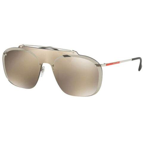 e6cd71173029 Prada Linea Rossa Sunglasses Pilot Style Gold Mirrored Lens