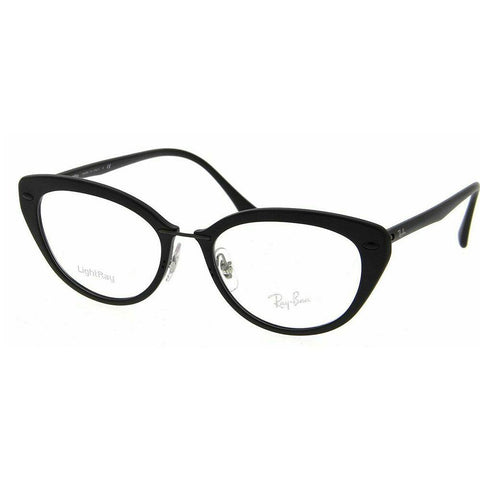 Ray Ban Cat Eye Style Matte Black Eyeglasses W/Demo Lens