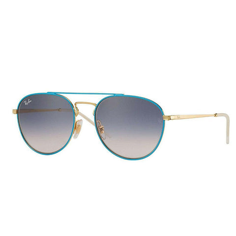 Ray Ban RB3589 9057I9 Women's Gold Tone Top Aviator Sunglasses w/ Gradient Lens