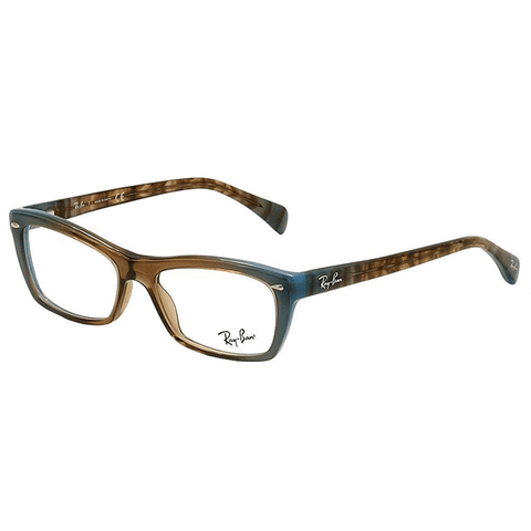 Ray Ban Cat Eye Style Brown Gradient/Azure Blue Eyeglasses W/Demo Lens