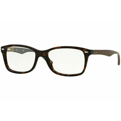 Ray Ban Rectangular Style Havana Eyeglasses W/Demo Lens