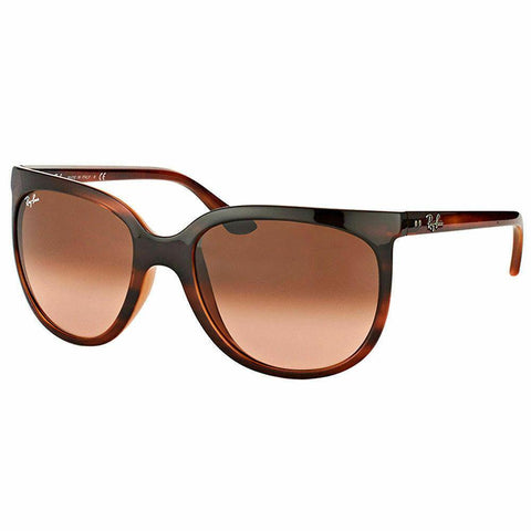 Ray-Ban Pilot 1000 RB4126 820/A5 Stripped Havana Sunglasses Brown Gradient Lens