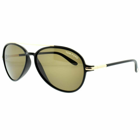 Tom Ford Sunglasses Ramone Aviator Style Brown Lens
