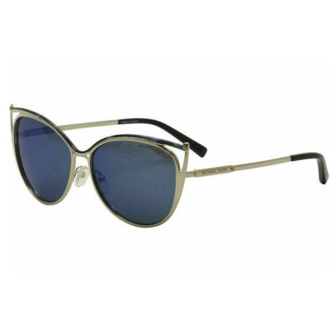 Michael Kors Cat Eye Style Sunglasses W/Navy Mirrored Lens
