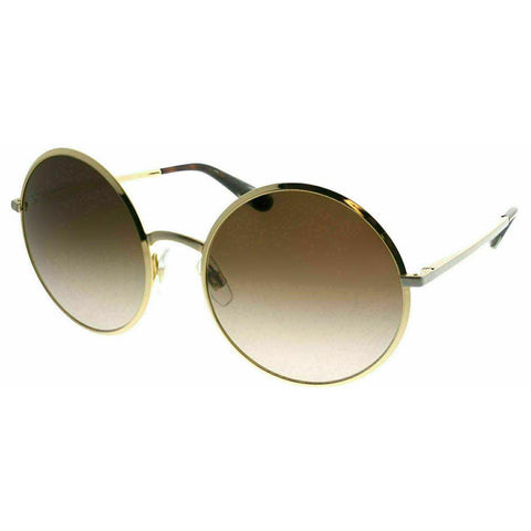 Dolce & Gabbana Sunglasses Round Style Brown Gradient Lens.
