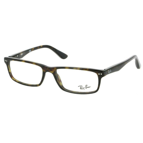 Ray Ban Rectangular Style Dark Havana Eyeglasses W/Demo Lens