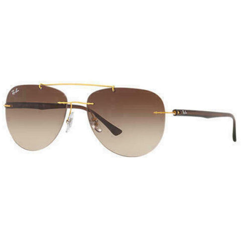 Ray-Ban Pilot Style Sunglasses W/Brown Gradient Lens