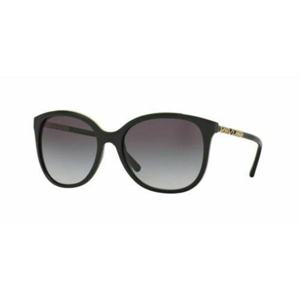 New BURBERRY Sunglasses BE4237 3001/8G Black / Gradient Gray 57mm