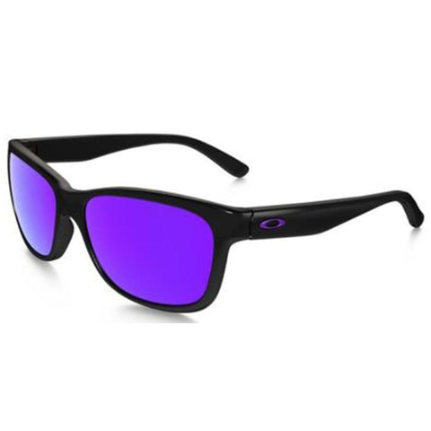 New Oakley OO9179 26 Polished Black Frame Violet Iridium Lens Sunglasses 57