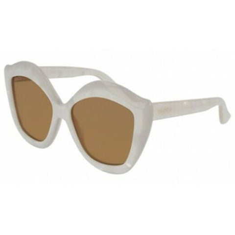 Gucci Sunglasses Lips at Eye Cat Eye Style Brown Gold Mirrored Lens