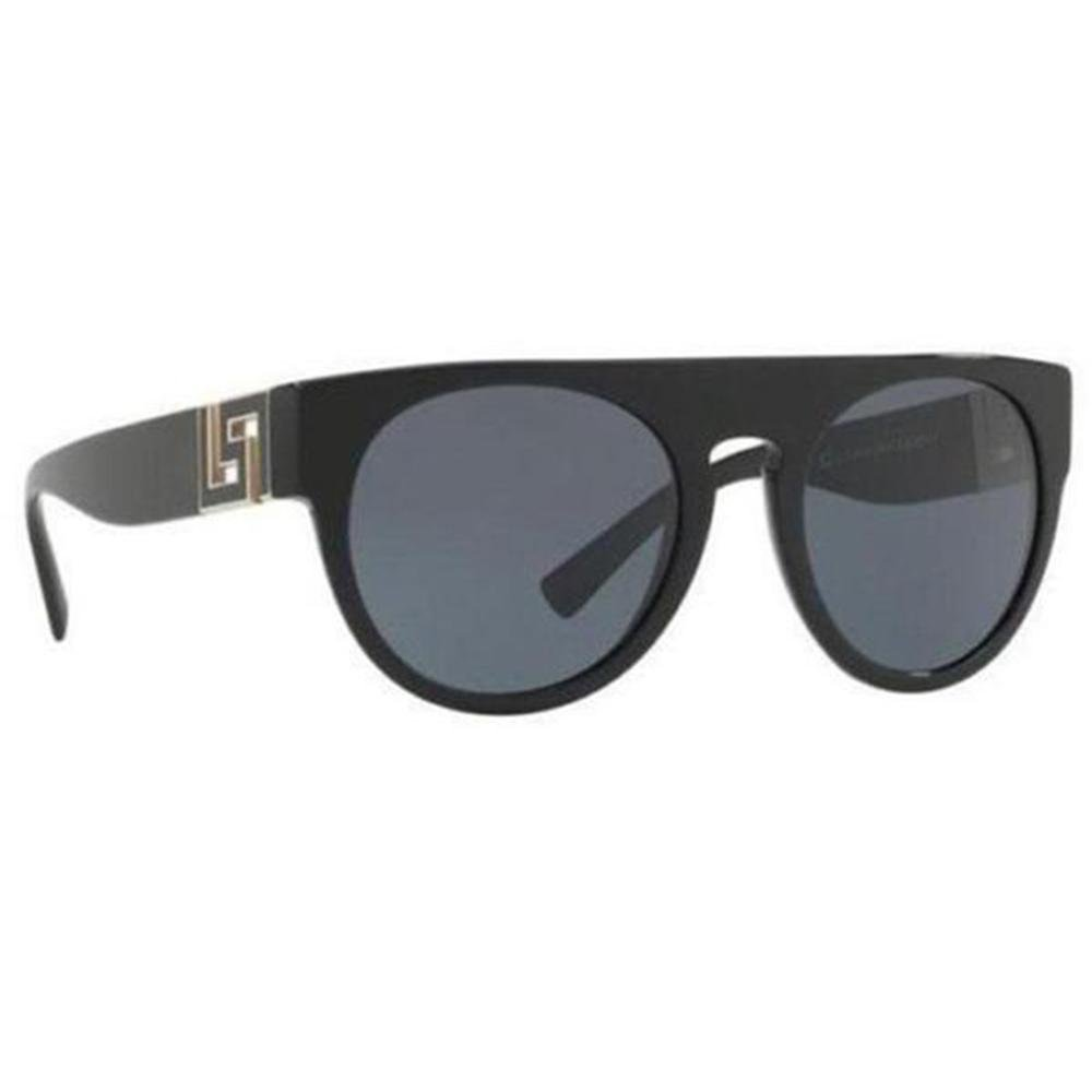 b7208c3df033 Versace Sunglasses Unisex Round Frame Gray Lens - Side View