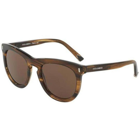 Dolce & Gabbana Sunglasses Round Style Brown Lens