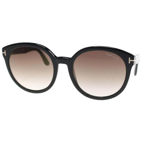Tom Ford Sunglasses Oval Style Brown Mirrored Lens