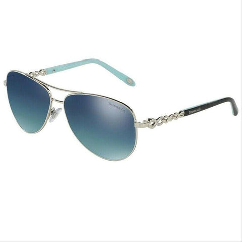 Tiffany & Co Pilot Style Azure Blue Mirrored Polarized/Gradient Lens