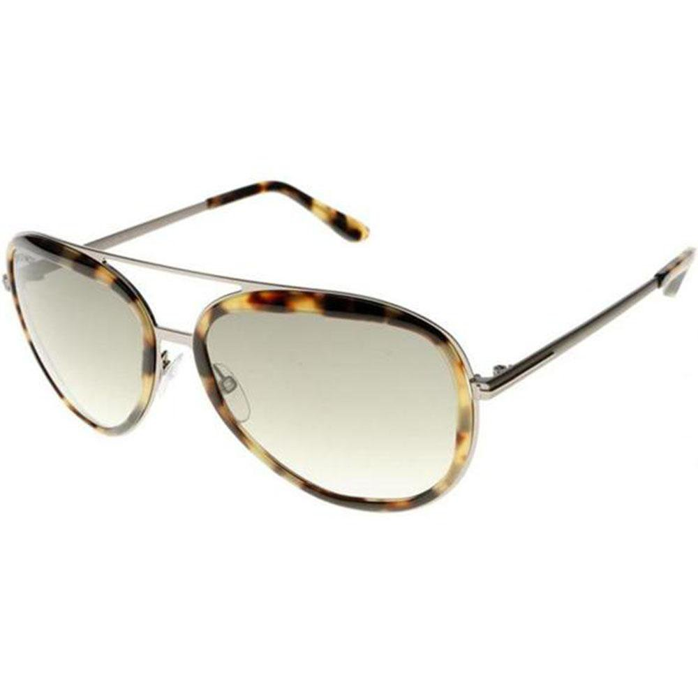24003407a14a Tom Ford Sunglasses Andy Aviator Style Graduated Green Lens