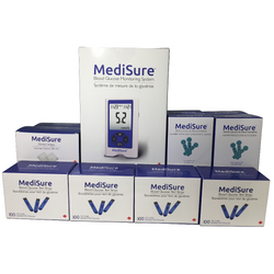MediSure Kit w/ 400 Strips + FREE 400 Lancets + FREE 400 Alcohol Wipes