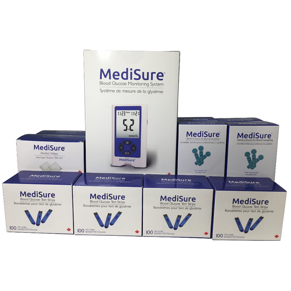 MediSure Kit w/ 400 Strips + FREE 400 Lancets + FREE Alcohol Wipes - Limited Time Deal - Get a FREE Box of Face Masks!