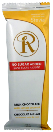 Ross Chocolates No Sugar Added Bars, 12 Count, 408g - Lemon Coconut