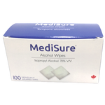 MediSure Alcohol Wipes - Box of 100