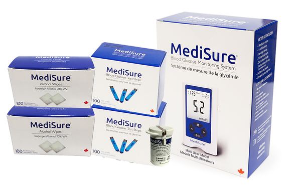 MediSure Multi-User Meter Bundle with 200 Test Strips