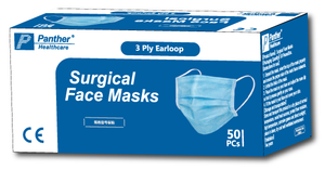 Panther Healthcare Disposable Medical Face Masks - Two Boxes of 50 (100 Masks Total)