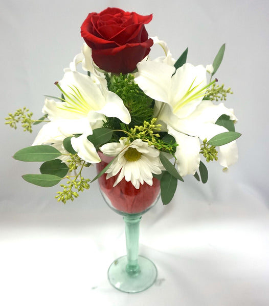 Wine Glass Roses