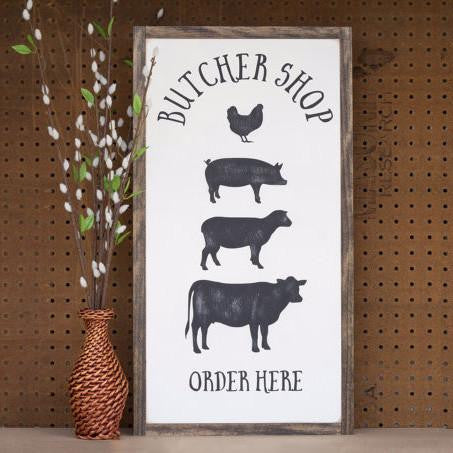 Butcher shop farmhouse sign