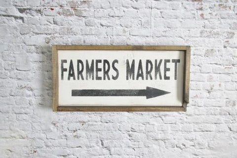 Farmers market farmhouse kitchen sign
