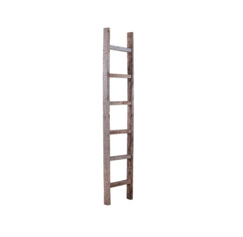 distressed barnwood ladder