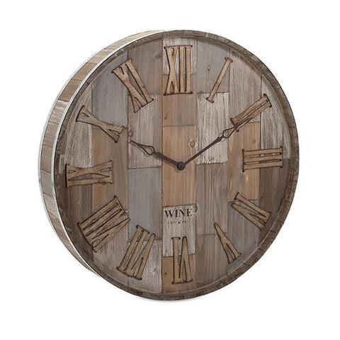 rustic wine barrel pallet clock