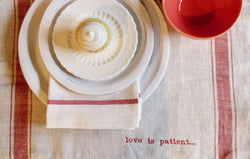 1 Corinthians Love Linen Placemats, Set of 6