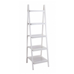 5-Tier White Shelving Unit
