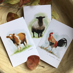 5″x7″ Fenway Farm Set of 3
