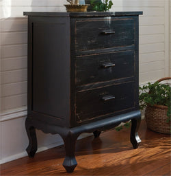 Aged Black Cupboard