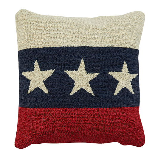 americana star pillow fourth of july memorial day labor day decor