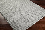 Anchorage Ivory Hand Woven Rug grey taupe