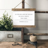 """As for me and my house"" Joshua 24:15 rustic farmhouse sign Canvas Poster"