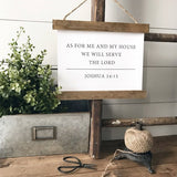 """As for me and my house"" Joshua 24:15 rustic farmhouse decor Canvas Poster"