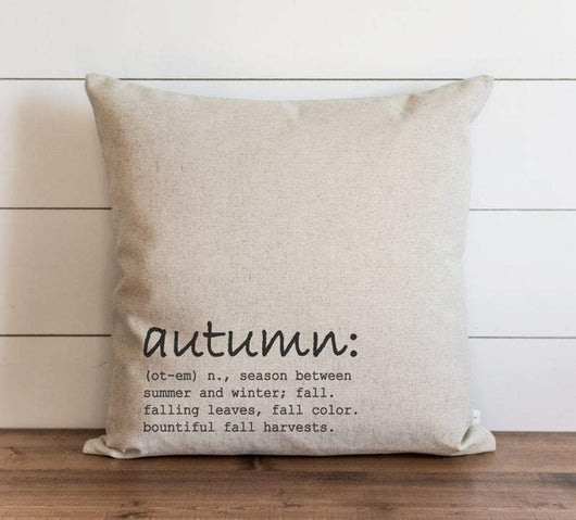 Rustic Autumn Definition Fall Pillow Cover