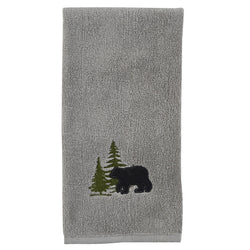 Soft grey Bear Fingertip Towel