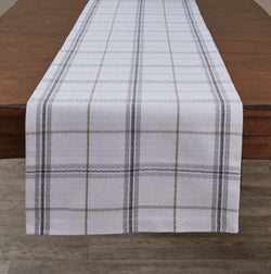 farmhouse BISTRO PLAID TABLE RUNNER - 72