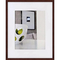 Bamboo CONTEMPORARY Mocha-Brown stain matted 11x148x10 frame by Nielsen® - 8x10