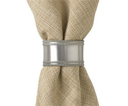 Beaded Pewter Napkin Ring