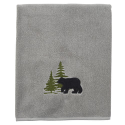 Soft grey Bear Bath Towel