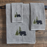 soft bear hand towel set for cabin use