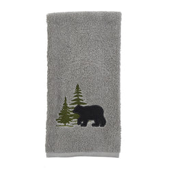 Soft plush grey bear hand towel