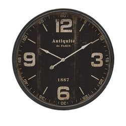 Black Distressed Parisian Wall Clock