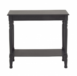 Black Wood Console Table