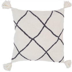 Braith Lattice Tassel Throw Pillow