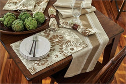 Brinley Farmhouse Stripe Table Runner